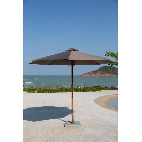FINLANDEK Parasol droit de jardin 3m - Mât et strucutre en bois dEucalyptus FSC et toile polyester imperméable