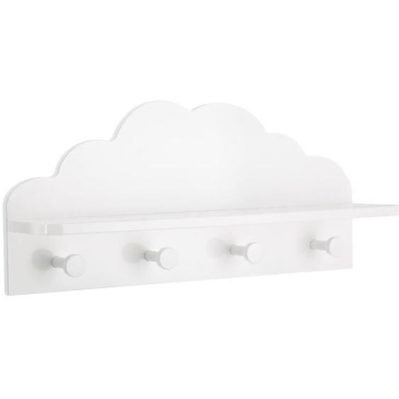 FOR KIDS Patère nuage 4 crochets - Blanc