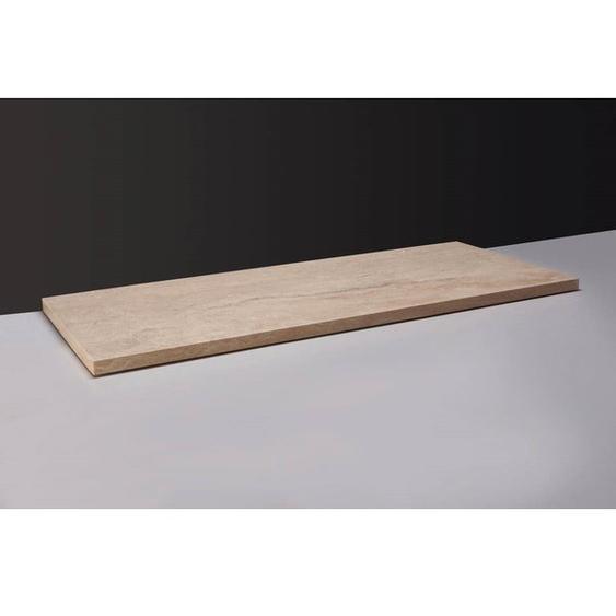 Forzalaqua Plateau Plan vasque 160.5x51.5cm 0Xø72mm Marbre Travertin 400128