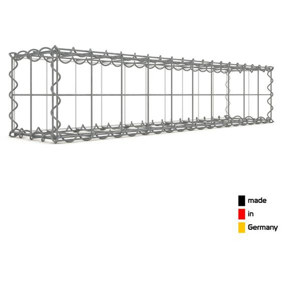 Gabion 100x20x20cm « made in Germany » - mailles carrées 10x10cm - GABIONDECO