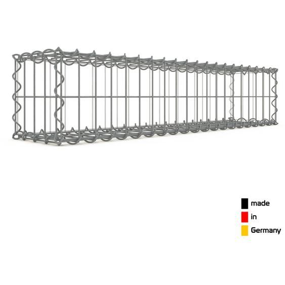 Gabion 100x20x20cm « made in Germany » - mailles rectangulaires 5x10cm - GABIONDECO