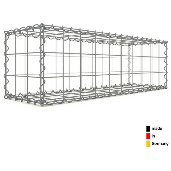 Gabion 100x30x30cm « made in Germany » - mailles carrées 10x10cm - GABIONDECO