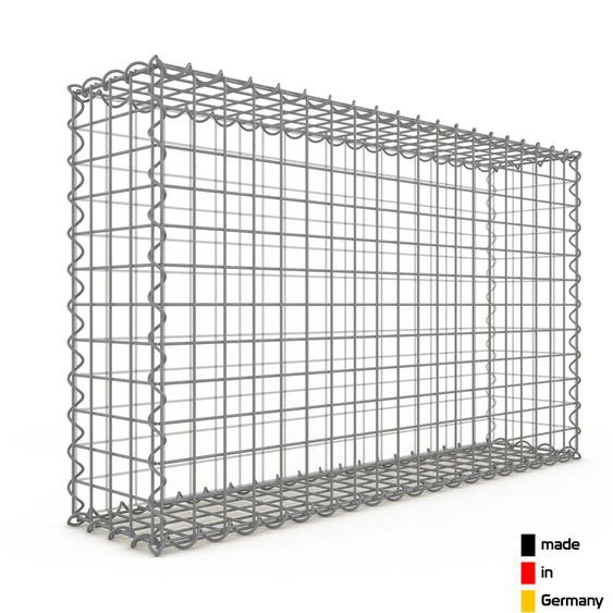 Gabion 100x60x20cm « made in Germany » - mailles carrées 5x5cm - GABIONDECO