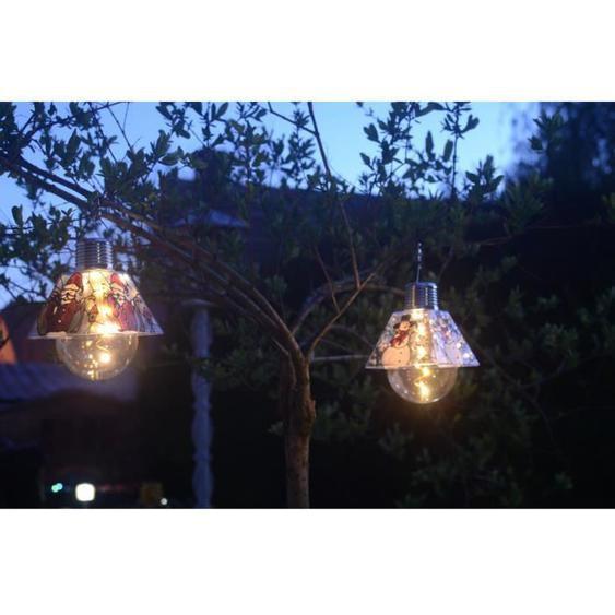 GALIX Ampoule solaire noël - Bonhomme de neige