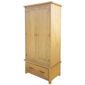 Garde-robe avec 1 tiroir 90 x 52 x 183 cm Bois de chêne massif