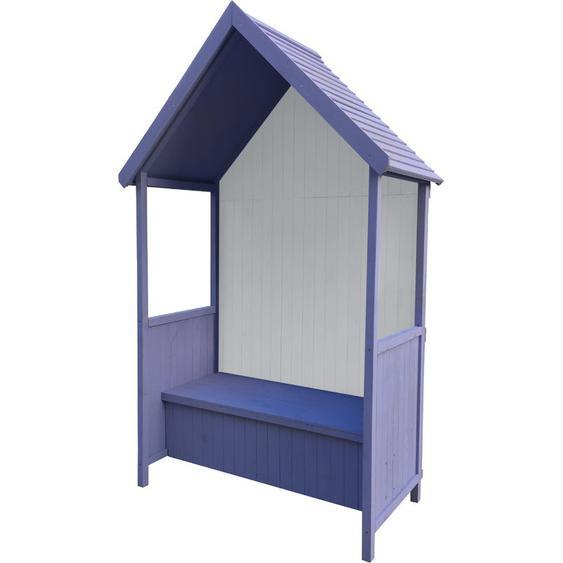 Gardiun Abribus De Jardin Alice Purple 75 cm x 137 cm x 223 cm En Bois Avec Banc