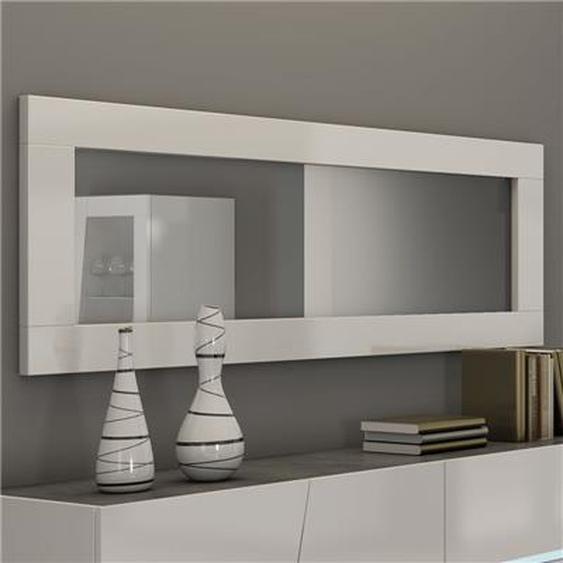 Grand miroir mural blanc laqué design JOSHUA