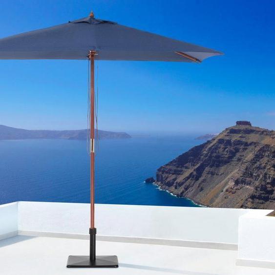 Grand Parasol Rectangulaire Avec Toile Bleu Marine