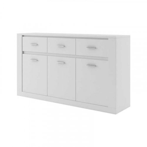 Grande commode 160cm IDEA blanc - .fr
