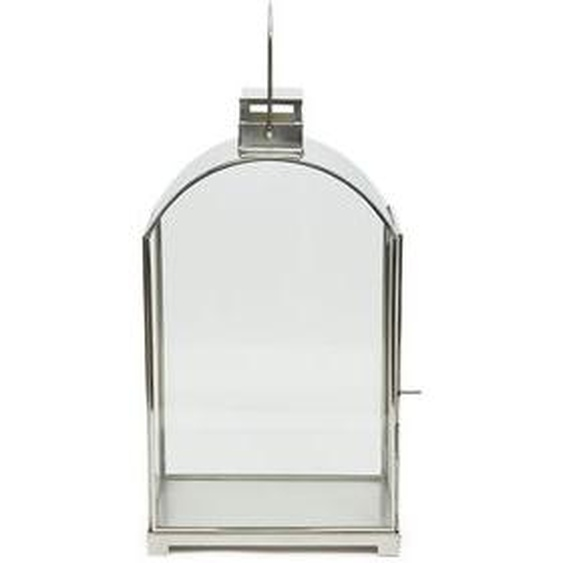 Grande lanterne vitrée Rodolphe métal H40 x L23 x P11 cm