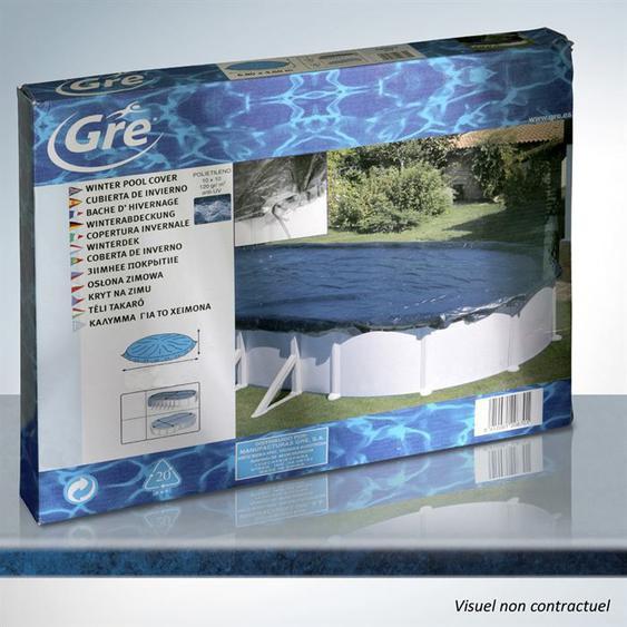 GRE Bâche hiver de 120g/m² pour piscine hors-sol ovale de 6,10 x 3,75m - Noir