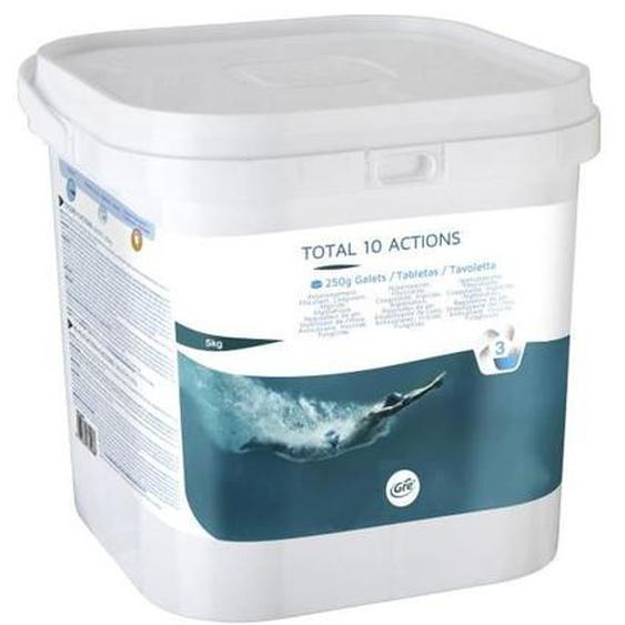 GRE Chlore Total 10 actions en galets de 250gr - 5 kg
