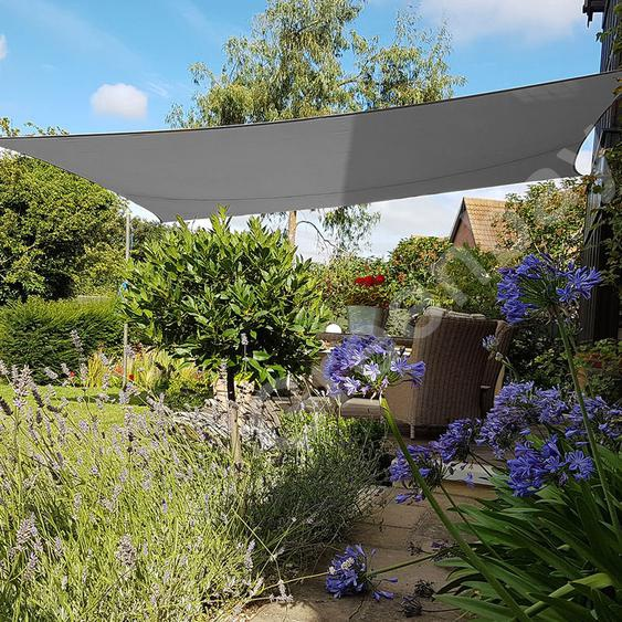 Voile dOmbrage 160g/m2 Jardin Patio Fête Toile Solaire 98% Résiste aux UV Rectangle 4x3m Anthracite - Green Bay
