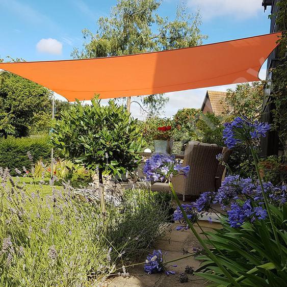 Green Bay Voile dOmbrage 160g/m2 Jardin Patio Fête Toile Solaire 98% Résiste aux UV Rectangle 4x3m Orange
