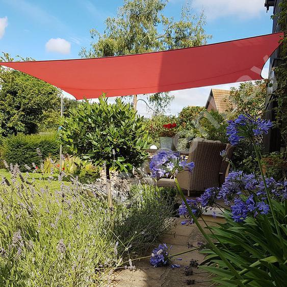 Voile dOmbrage 160g/m2 Jardin Patio Fête Toile Solaire 98% Résiste aux UV Rectangle 4x3m Terre Cuite - Green Bay