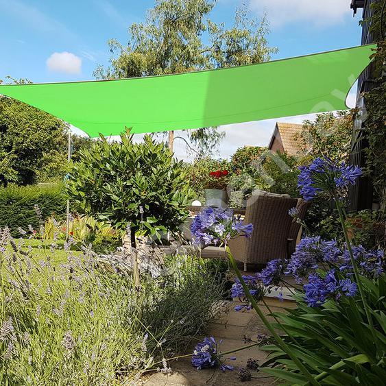 Voile dOmbrage 160g/m2 Jardin Patio Fête Toile Solaire 98% Résiste aux UV Rectangle 4x3m Vert Clair - Green Bay