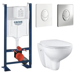 GROHE - Pack wc Rimless Bau Ceramic Grohe, plaque blanche