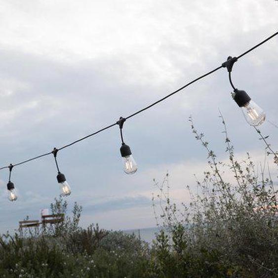 Guirlande lumineuse solaire 10 ampoules à filament vintage LED blanc chaud MAFY SOLAR 6.50m