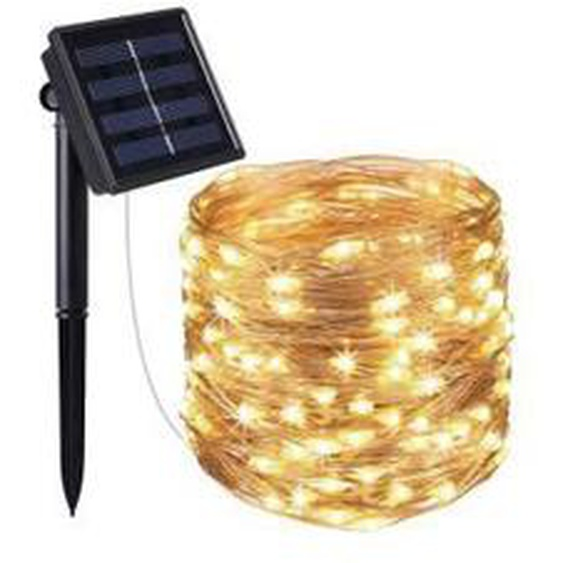Guirlande lumineuse solaire Skinny Solar 200 - 21,50 m - 8 modes