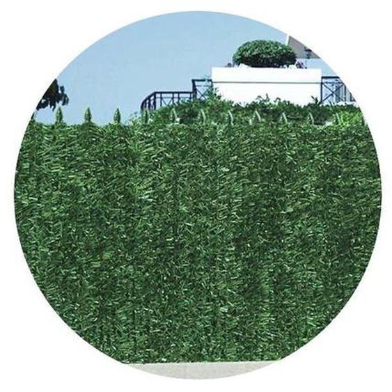 Haie artificielle 126 brins vert sapin en rouleau Ultra (Lot de 10) 1.8 x 3 m - Vert - JET7GARDEN