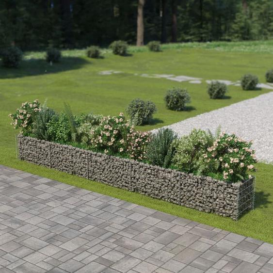 Jardinière à gabion Acier galvanisé 450 x 50 x 50 cm - Hommoo