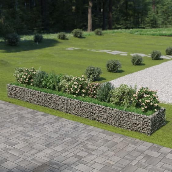 Jardinière à gabion Acier galvanisé 540 x 90 x 50 cm VD05458 - Hommoo