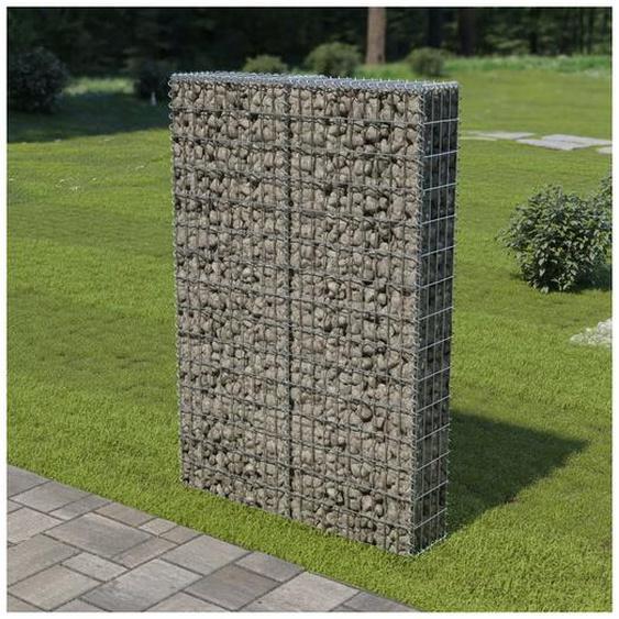 Hommoo Mur à gabion avec couvercles Acier galvanisé 100 x 20 x 150 cm