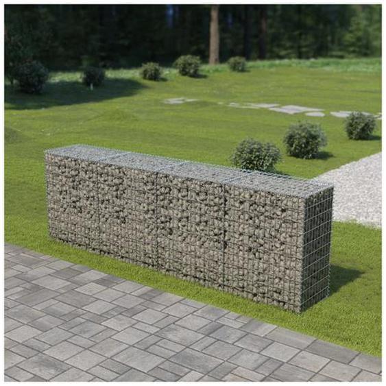 Mur en gabion avec couvercles Acier galvanisé 300 x 50 x 100 cm - Hommoo