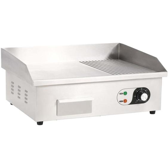 Plancha électrique Acier inoxydable 3000 W 54 x 41 x 24 cm HDV30587 - Hommoo