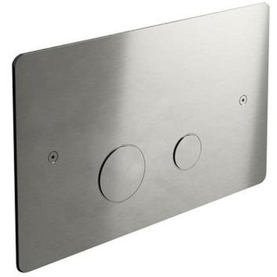 Hotbath Archie Plaque de commande WC compatible avec Geberit UP320 inox ARA320IX