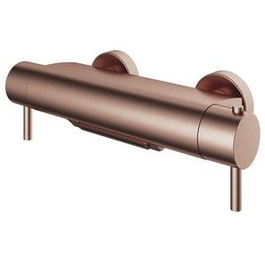 Hotbath Buddy Robinet de baignoire thermostatique avec bec cascade cuivre brossé PVD B021BCP