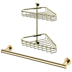 Hotbath Cobbber set daccessoires douche 2 pièces laiton poli SW74021-SW73938