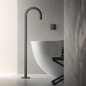 Hotbath Cobber Bec déverseur baignoire sur pied noir chrome CB076BK