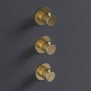 Hotbath Cobber Partie de finition pour thermostat de douche avec 2 robinets darrêt placement vertical fer antique CB7066EXTAI