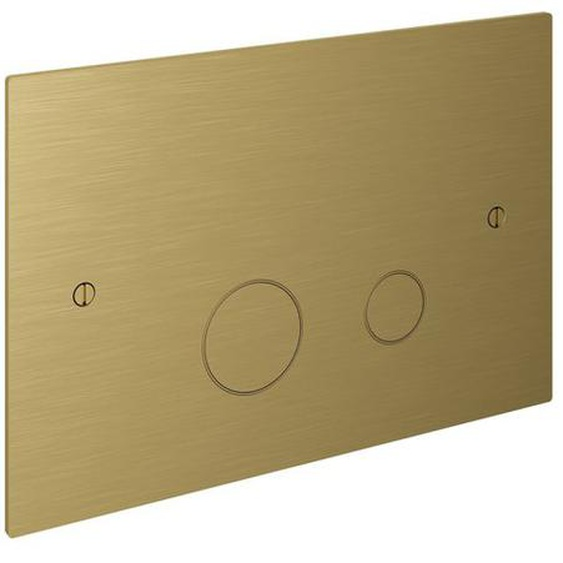 Hotbath Cobber Plaque de commande compatible avec Geberit UP320 laiton brossé PVD CBA320BBP