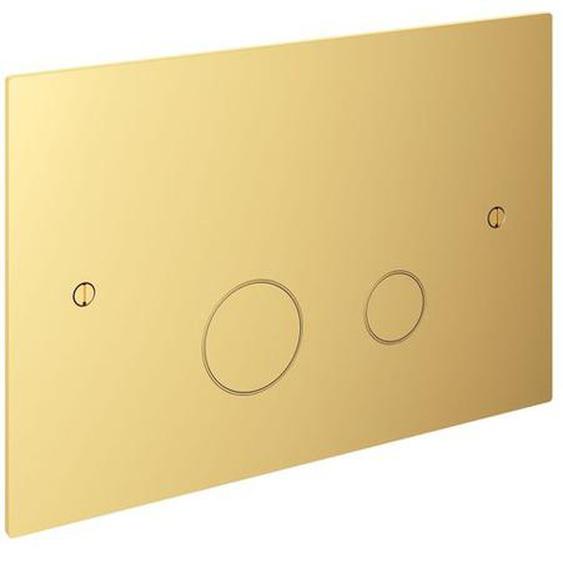 Hotbath Cobber Plaque de commande compatible avec Geberit UP320 laiton poli PVD CBA320NBP