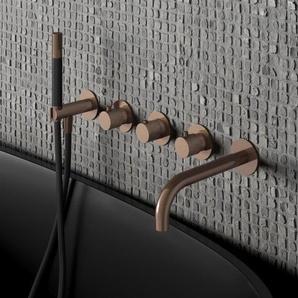 Hotbath Cobber Robinet baignoire encastrable thermostatique avec bec et 2 robinets darrêt Blanc mat HBCB7072/CB7072EXTWH