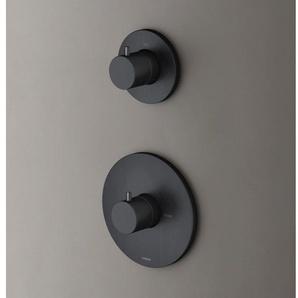 Hotbath Cobber Robinet douche encastrable thermostatique avec 1 robinet darrêt Noir mat HB012/CB012EXTBL