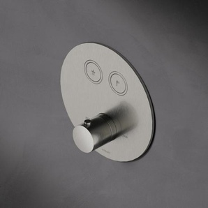 Hotbath Cobber Robinet douche encastrable thermostatique avec 2 boutons ronds Blanc mat HBPB009/PB009EXTWH