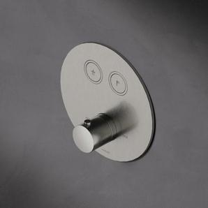Hotbath Cobber Robinet douche encastrable thermostatique avec 2 boutons ronds Fer antique brillant HBPB009/PB009EXTAI