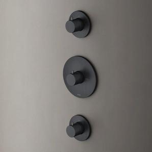 Hotbath Cobber Robinet thermostatique à encastrer avec 2 robinets darrêt noir mat HB007/CB007EXTBL