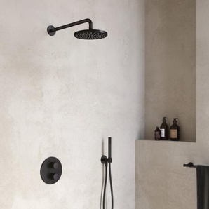 Hotbath Cobber Set de douche complet robinet thermostatique encastrable avec inverseur 2 voies arrêt chrome IBS20ACR