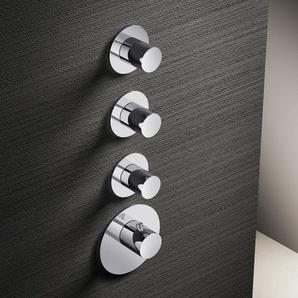 Hotbath Mate High Flow Robinet thermostatique douche avec 3 robinets darrêt et partie encastrable Nickel brossé MHF003/MHF013GN