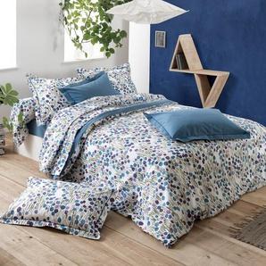 Housse de couette 140x200 cm 100% coton BAGATELLE bleu Encre