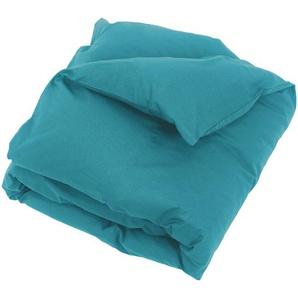 Housse de couette uni 140x200 cm 100% coton ALTO bleu colibri