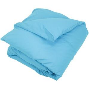 Housse de couette uni 200x200 cm 100% coton ALTO bleu sky