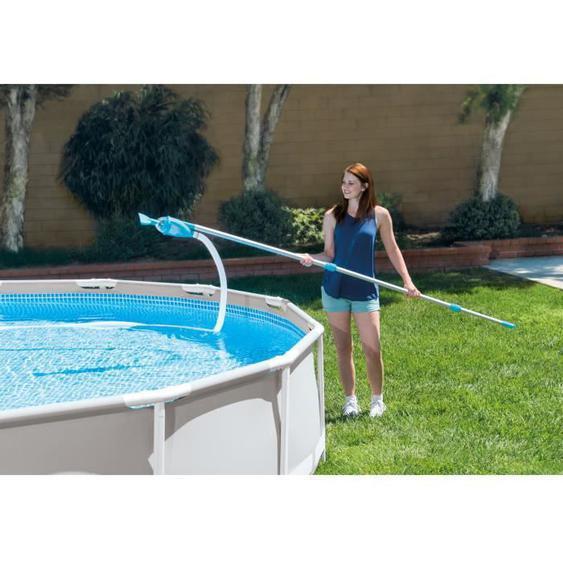 Intex kit dentretien vac+ pour nettoyer piscine hors-sol avec filtration
