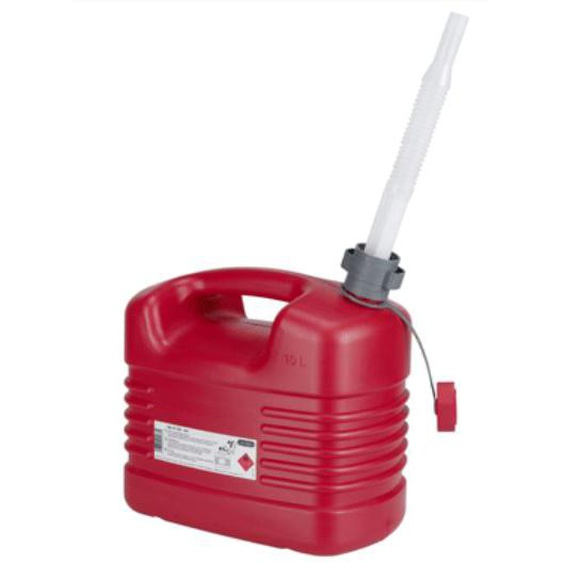 Jerrycan carburant avec bec flexible 10 L - PRESSOL - 21 133