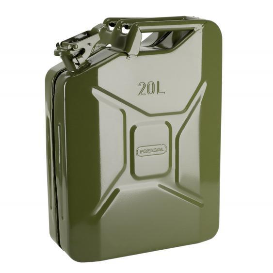 Jerrycan carburant métallique 20 L - PRESSOL - 21 060 950
