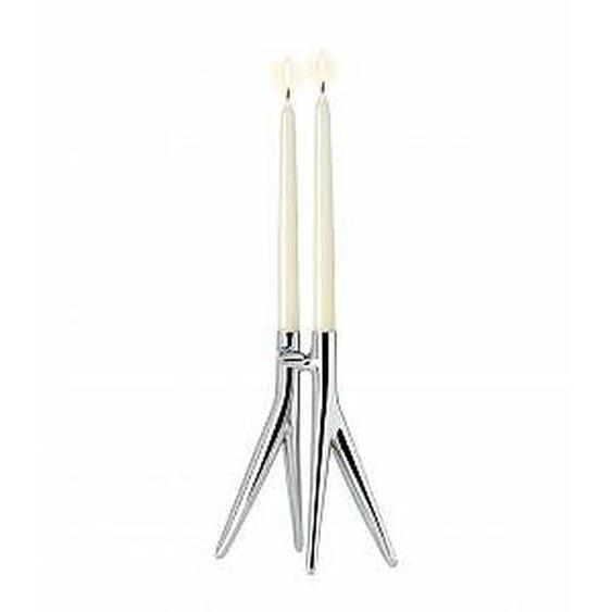 KARTELL candélabre ABBRACCIAIO (Chrome - Aluminium brillant)